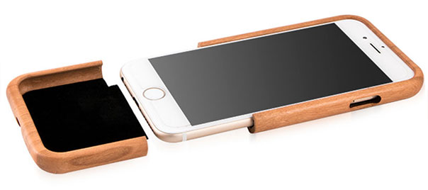 دسترسی به کلیدهای آیفون 7 در کاور چوبی