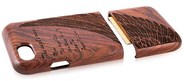 دو قسمت مجزا محافظ چوبی آیفون 7
