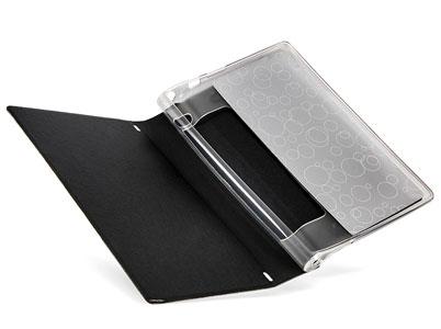بست شدن دری کیف محافظ تبلت لنوو با مگنتهای درون بوک کاور