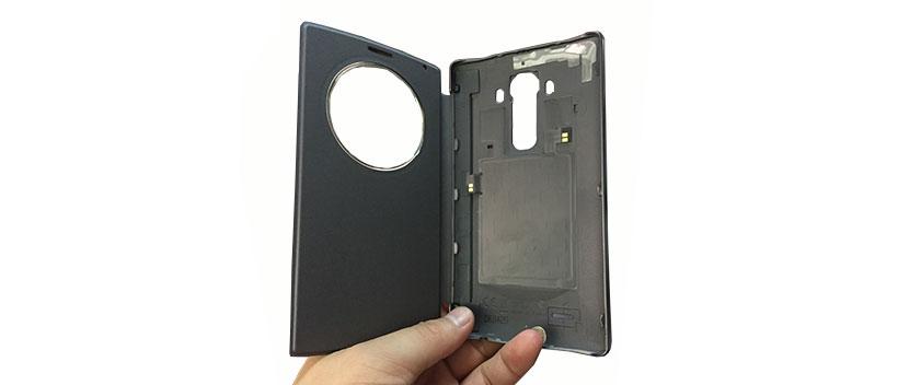 کیف ال جی جی 4 حفاظت از باتری به عنوان درب پشت گوشی
