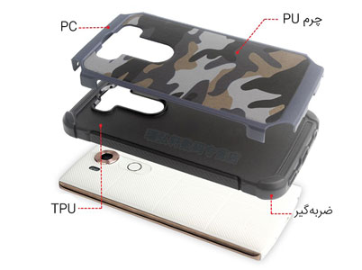 طراحی دو لایه قاب چریکی الجی V10