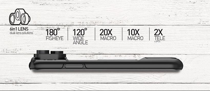 لنز 6 حالته مومکس آیفون Momax 6 In 1 X-Lens Case Apple iPhone X