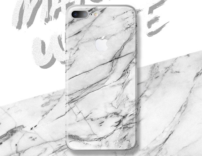 برچسب محافظ طرح دار راک آیفون Rock White Marble Creative Protector Apple iPhone 7