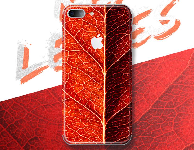 برچسب محافظ طرح دار راک آیفون Rock Red Leaf Creative Protector Apple iPhone 7