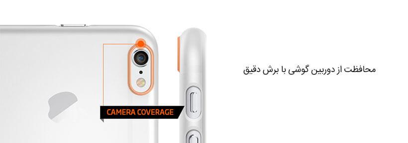 محافظت از دوربین آیفون 6 با قاب اسپیگن
