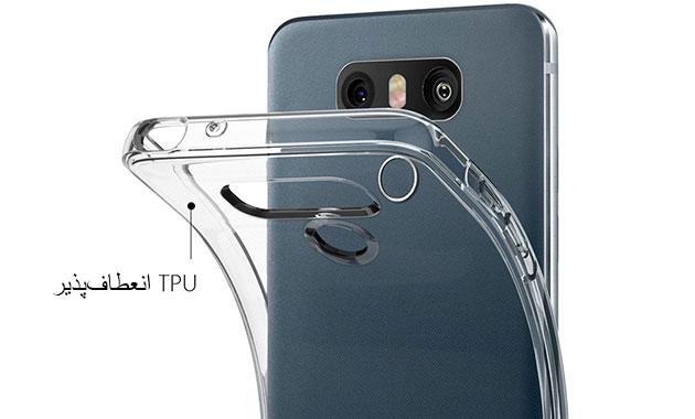 انعطاف پذیری محافظ ژله ای اسپیگن ال جی Spigen LG G6