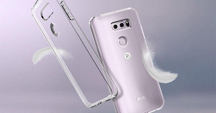محافظ ژله ای اسپیگن ال جی Spigen Liquid Crystal Case LG V30