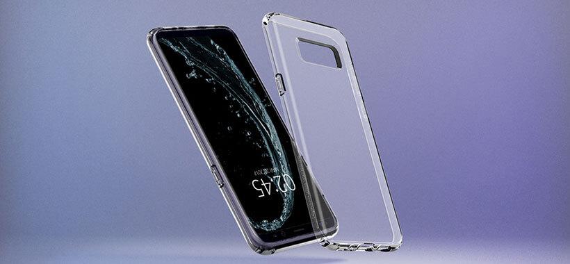 محافظ ژله ای اسپیگن سامسونگ اس 8 مدل Liquid Crystal