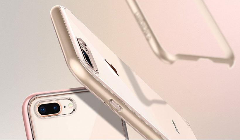 قاب محافظ اسپیگن مدل نئو هیبرید کریستال 2 سازگار با گوشی آیفون 8 پلاس