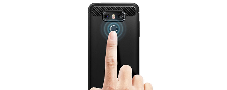قاب محافظ اسپیگن الجی G6 spigen با دسترسی آسان به سنسور