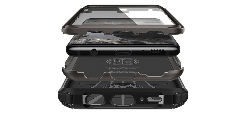 گارد محافظ و محافظ صفحه اسپیگن سامسونگ Galaxy S9