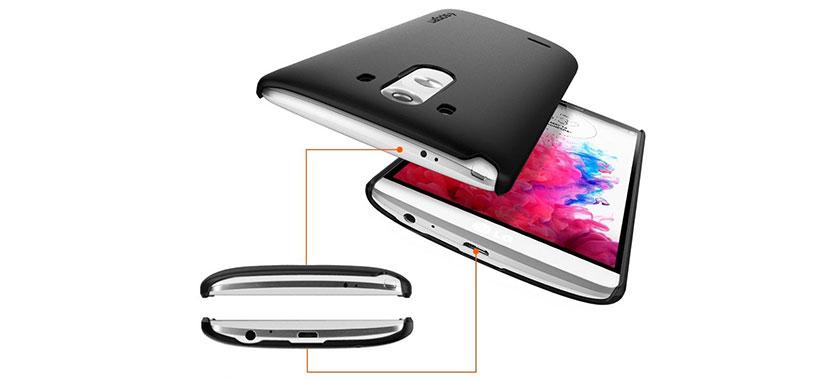 قاب اسپیگن LG G3 بدون محدودیت در دسترسی به پورت ها