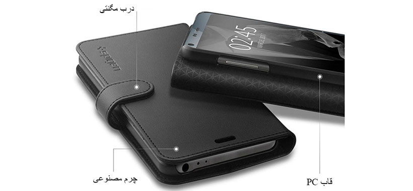کیف محافظ اسپیگن الجی G6 با قاب PC سخت