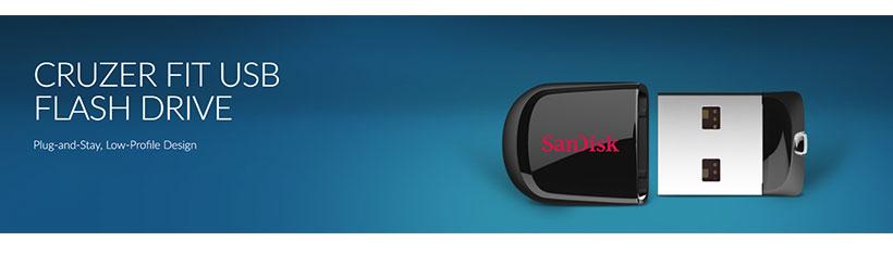 فلش مموری سندیسک Sandisk Cruzer Fit USB 2.0 Flash Memory با ظرفیت 32 گیگابایت