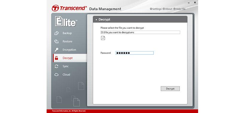 رمزگشایی فایل ها در فلش ترنسند