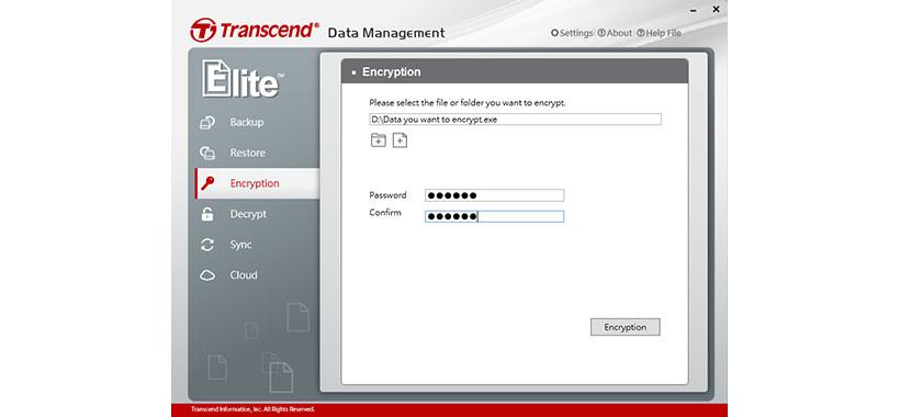 رمزگذاری فایل ها در فلش ترنسند جت فلش