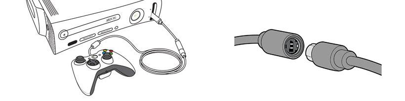اتصال با سیم دسته بازی ایکس باکس