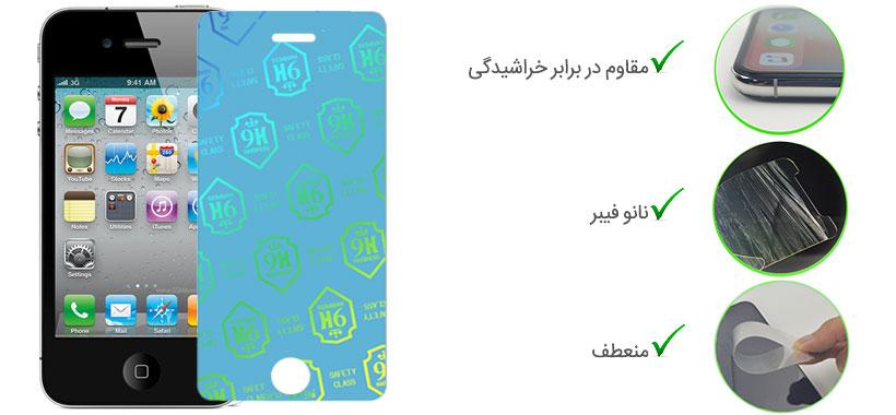 گلس نانو iPhone 4