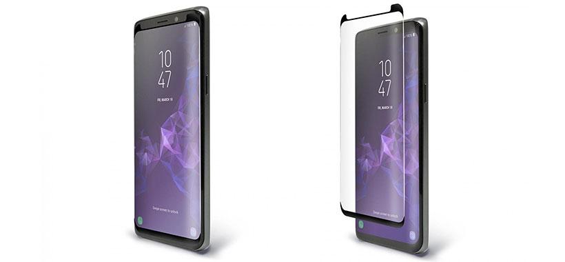 محافظ صفحه نمایش شیشه ای تمام صفحه گوشی سامسونگ گلکسی اس 9 پلاس