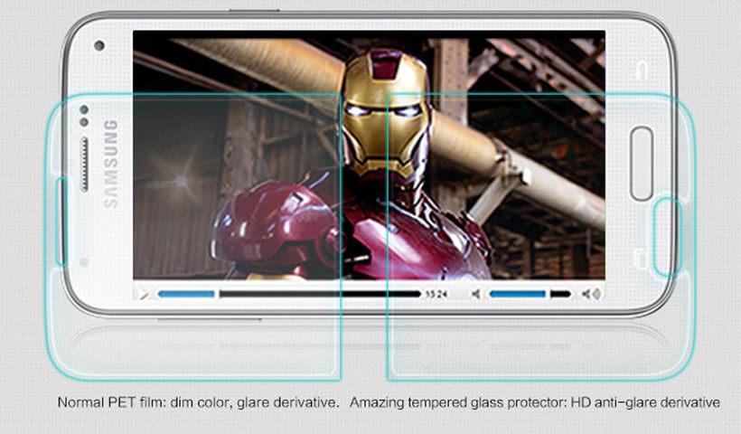 محافظ صفحه نمایش شیشه ای نیلکین H سامسونگ S5 mini