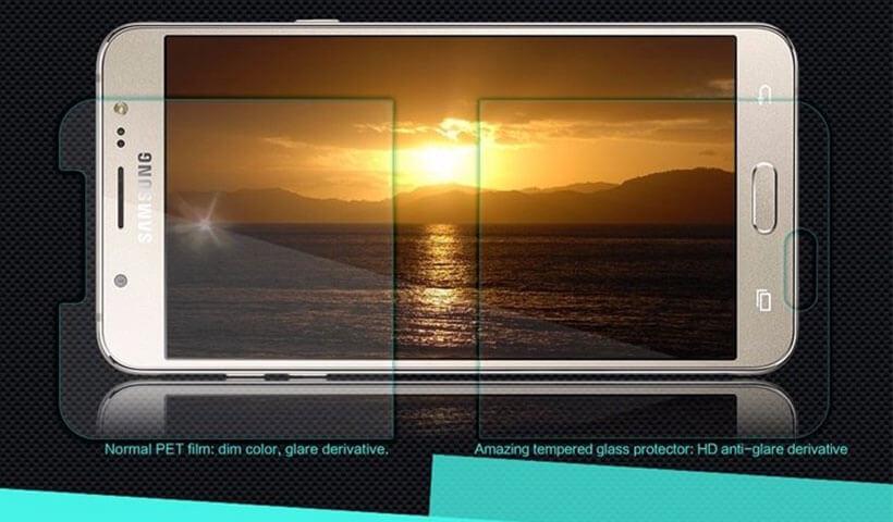 محافظ صفحه نمایش شیشه ای نیلکین H سامسونگ J7 2016