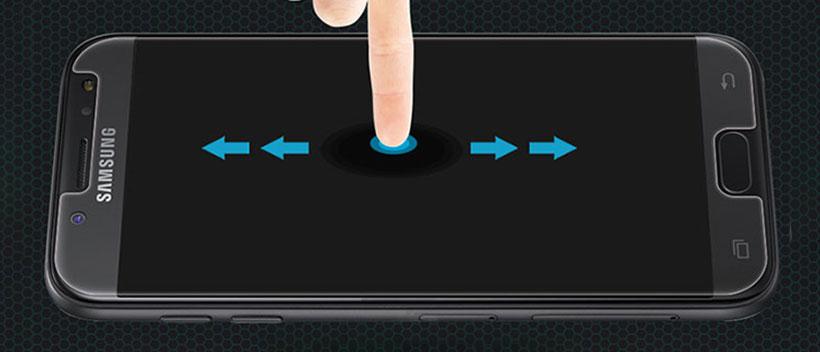 لمس آسان نمایشگر با محافظ نرم شیشه ای نیلکین
