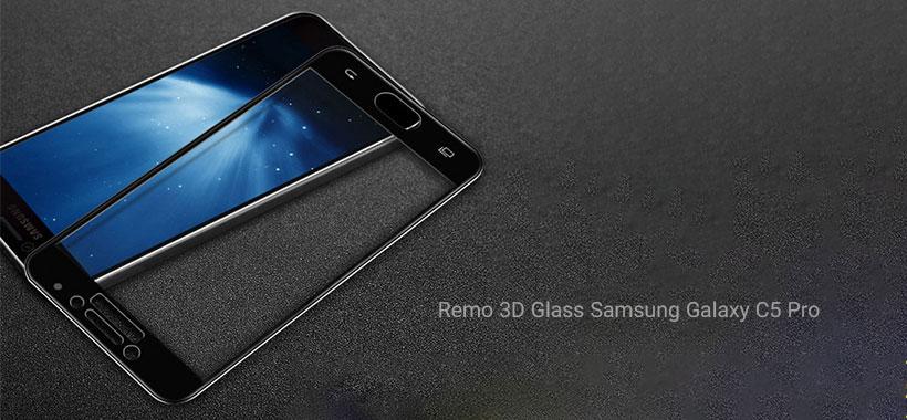گلس تمام صفحه Remo گوشی سامسونگ Galaxy C5 Pro