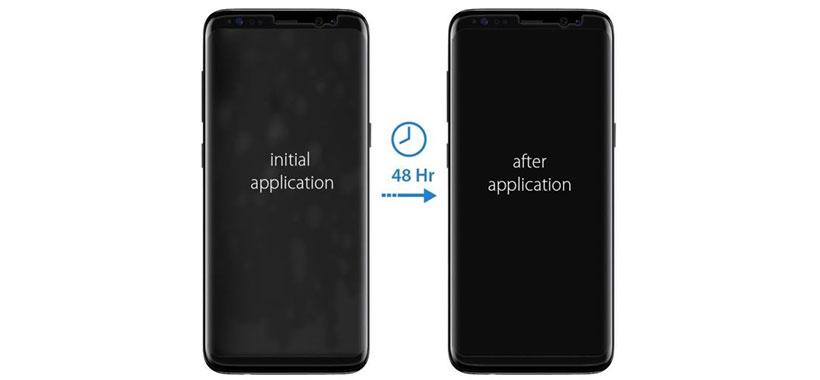 نصب محافظ صفحه اسپیگن روی گوشی اس 8