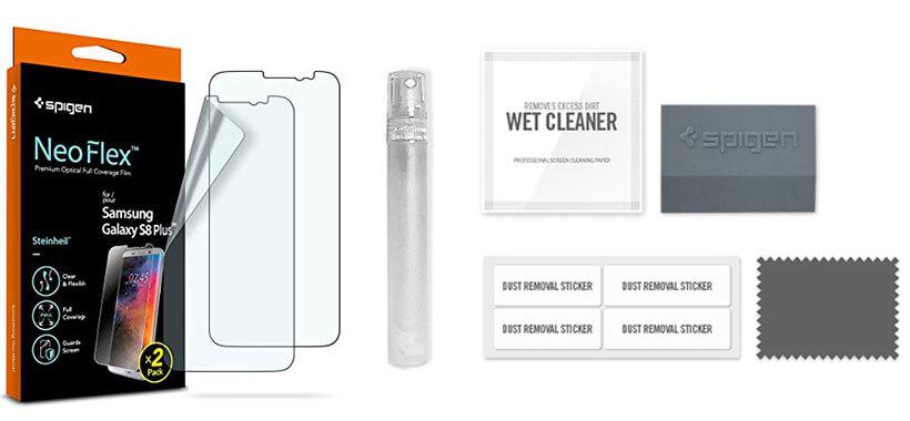 محافظ صفحه شفاف و منعطف اسپیگن برای سامسونگ گلکسی اس 8 پلاس