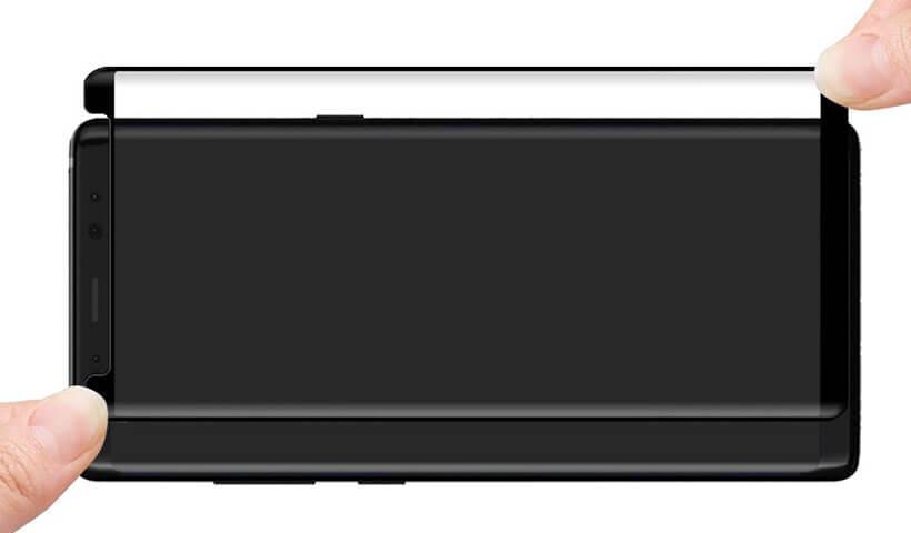 گلس فول و تمام چسب سامسونگ Note 8