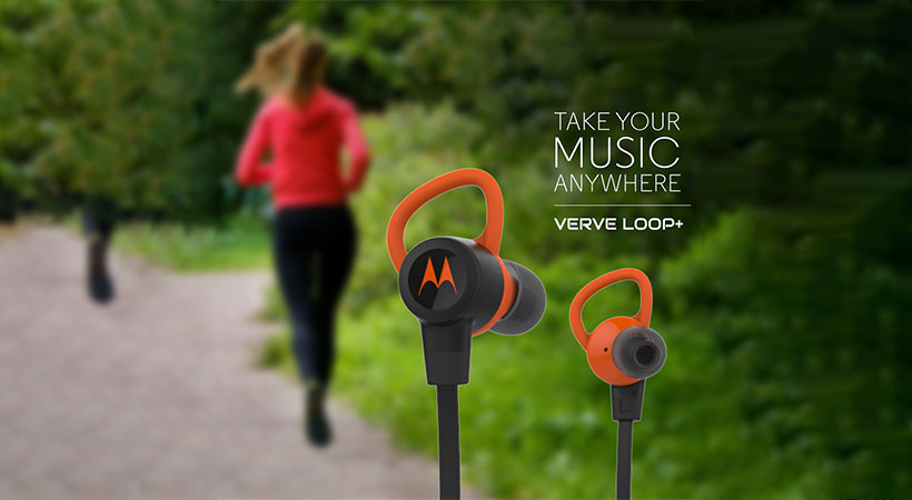 هندزفری بلوتوث موتورولا Motorola VerveLoop+ Wireless Bluetooth Sports Earbuds