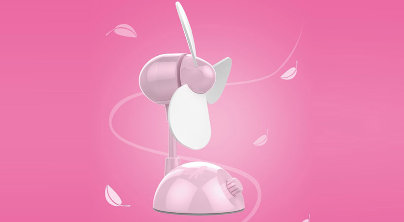 پنکه رومیزی هوکو Hoco F1 USB Mini Desktop Fan
