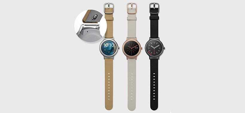 بند چرم ایتالیایی ساعت هوشمند W270 LG