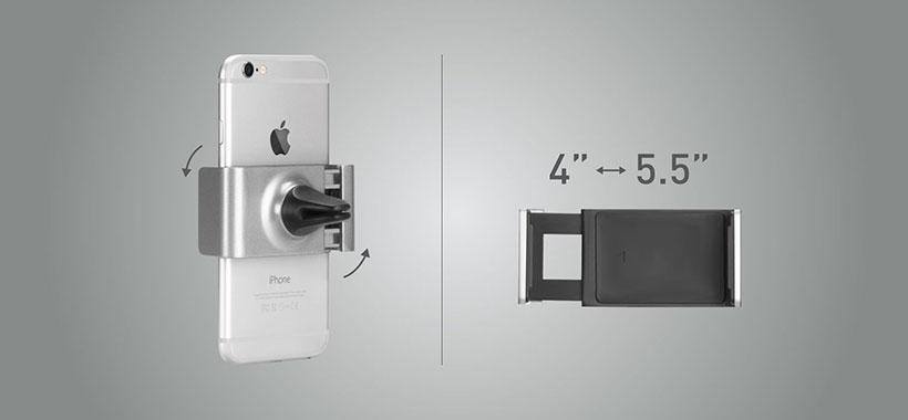 گیره متحرک استند مامکس برای گوشی های 4 تا 5.5 اینچ