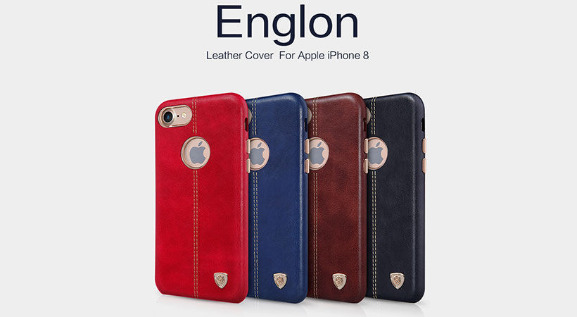 قاب محافظ چرمی نیلکین آیفون Nillkin Englon Apple iPhone 8