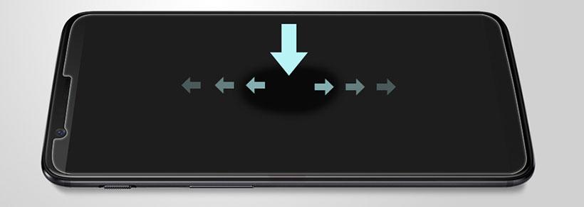 لمس سریع و راحت صفحه گوشی