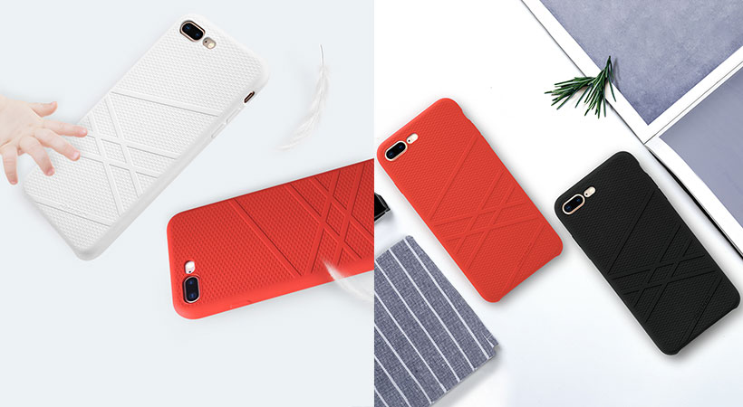 قاب محافظ آیفون Nillkin Liquid Silicone Flex Case Apple iPhone 8 Plus