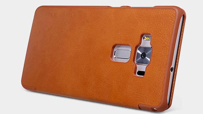 کیف چرمی نیلکین ایسوس Zenfone 3 با پوشش برجسته اطراف لنز