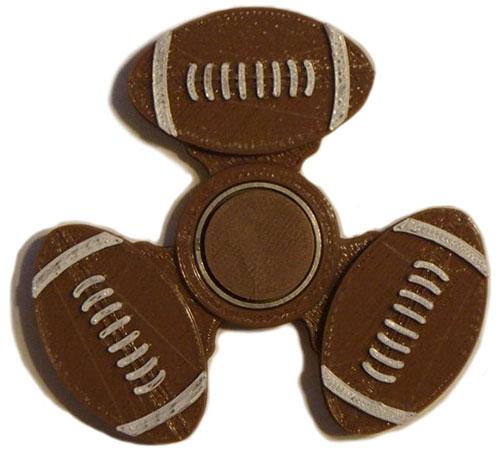 اسپینر فلزی طرح توپ فوتبال امریکایی Fidget Spinner American Football