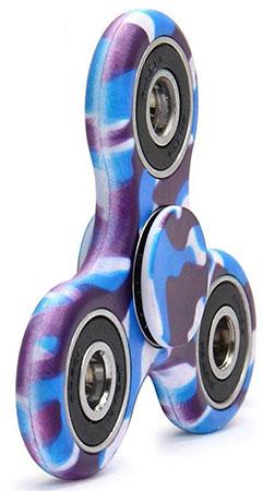 اسپینر فلزی طرح چریکی آبی Fidget Spinner Blue Guerrilla