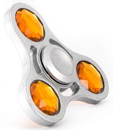 اسپینر فلزی نگین دار سه پره ای Fidget Spinner Cameo