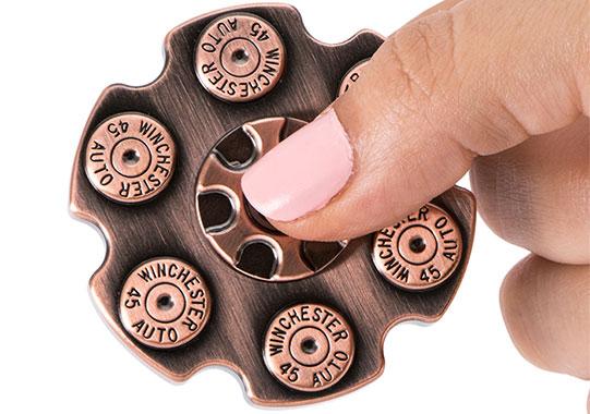 اسپینر فلزی طرح خشاب اسلحه در ابعاد کوچک