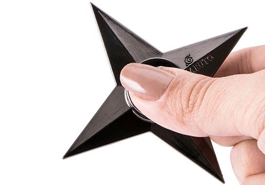 اسپینر فلزی ستاره چهار پر با ابعاد کوچک و مناسب