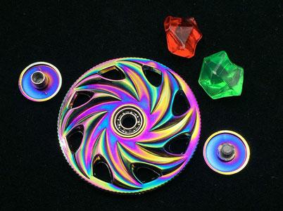 بلبرینگهای روان اسپینر چرخی رنگین کمانی