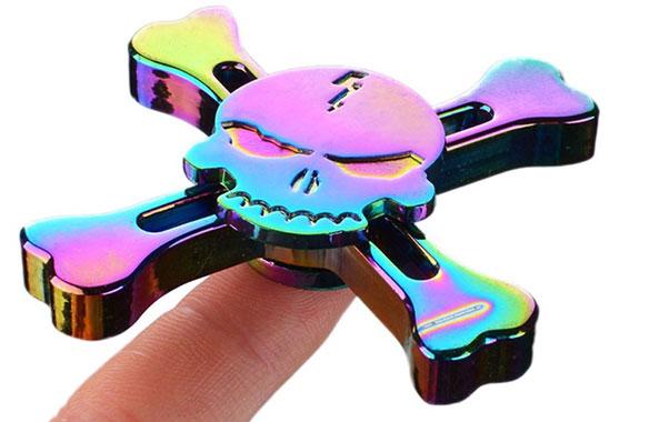 اسپینر فلزی اسکلتی رنگین کمانی در ابعاد مناسب