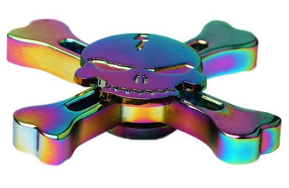 اسپینر فلزی اسکلتی رنگین کمانی با طراحی زیبا