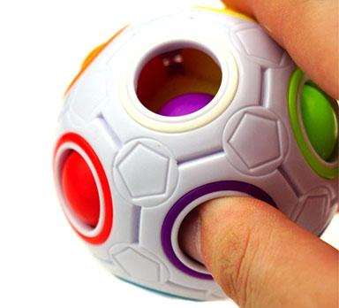 نحوه بازی با روبیک توپی رنگین کمانی