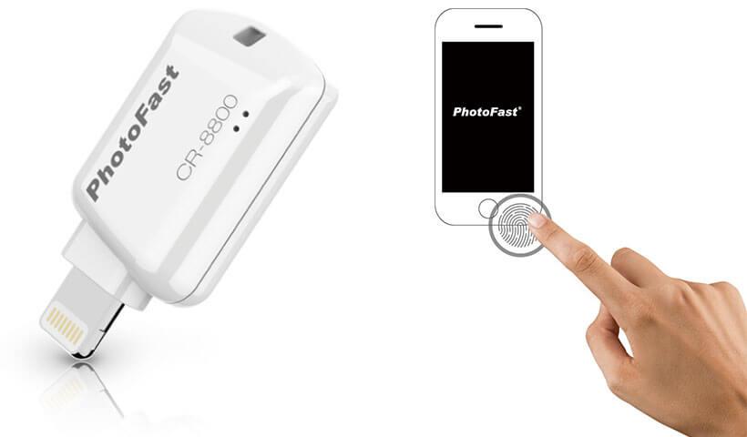 رمزگزاری تاچ آد دی با کارت خوان لایتنینگ فوتوفست PhotoFast CR-8800 iOS Card Reader