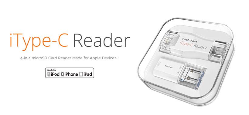 PhotoFast iType-C Reader iOS MicroSD Card Reader