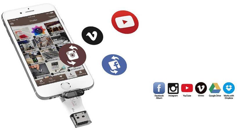 بک آپ گیری با فلش مموری فوتوفست Max i-FlashDrive